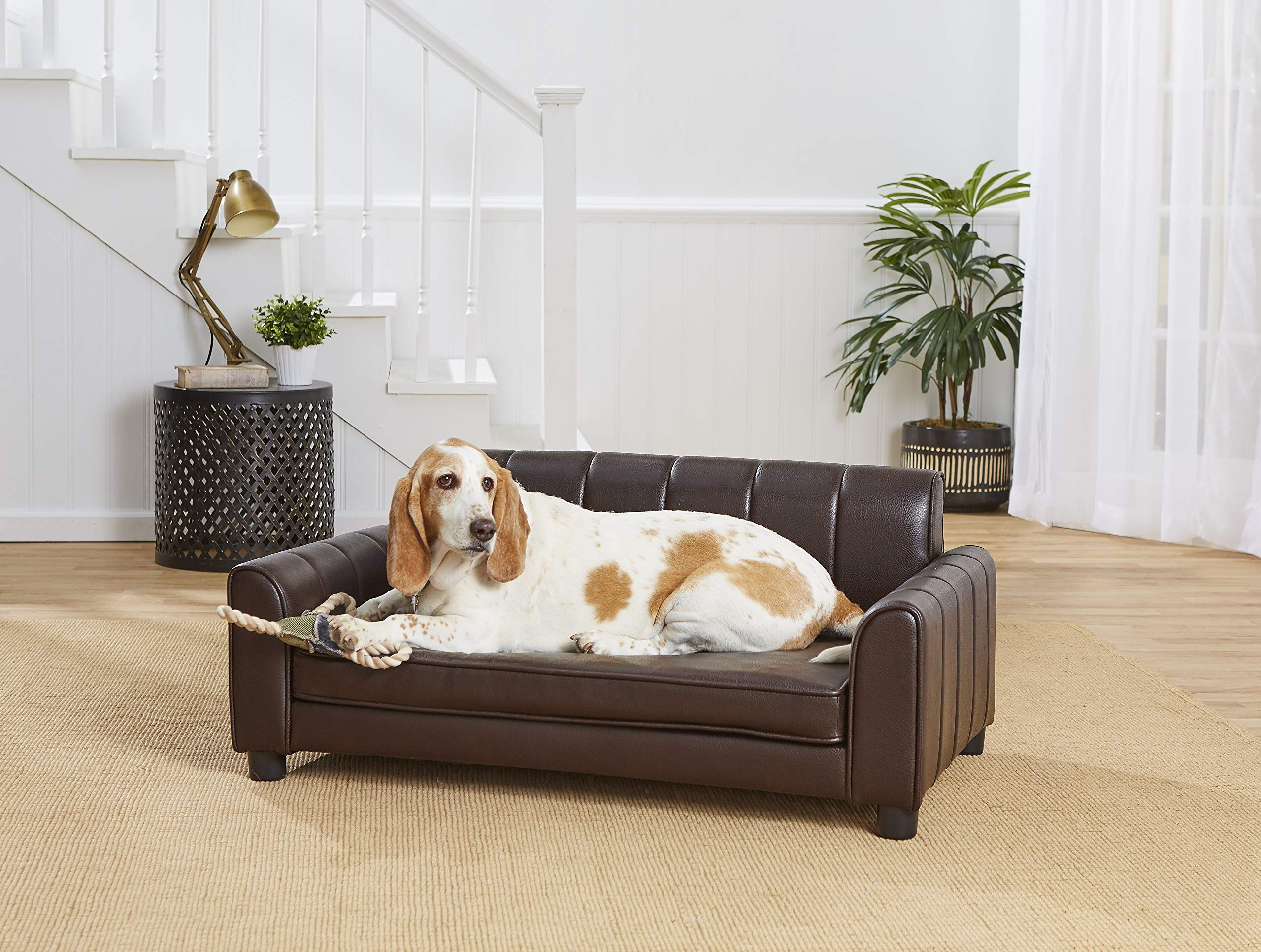 Enchanted Home Pet Ludlow Pet Sofa - Pebble Brown by Enchanted Home Pet