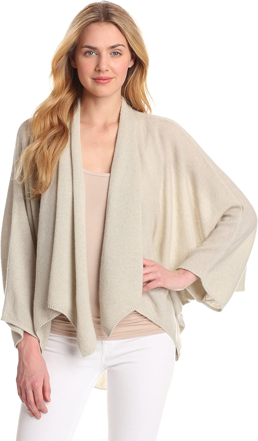Minnie Rose Women's 100% Cashmere Cocoon Cardigan at Amazon