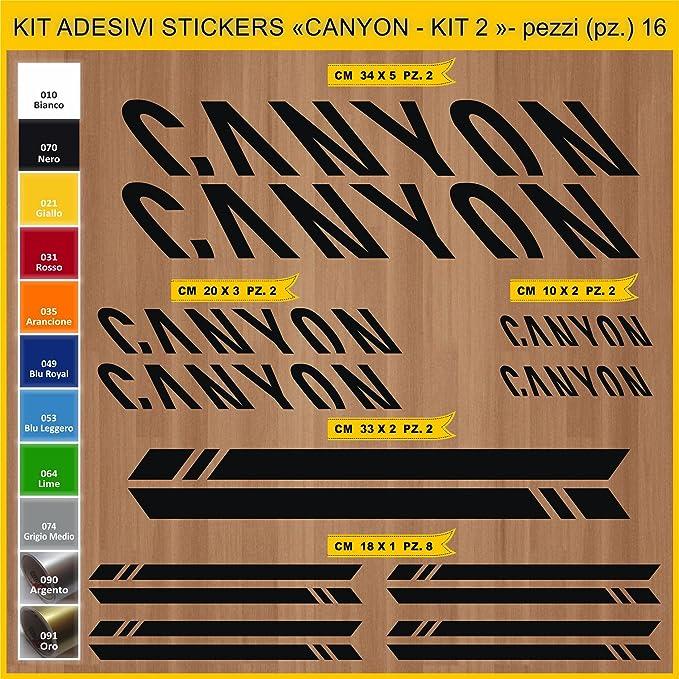 Kit Pegatinas Stickers Bicicleta Canyon -Kit 2-16 Piezas- Bike ...