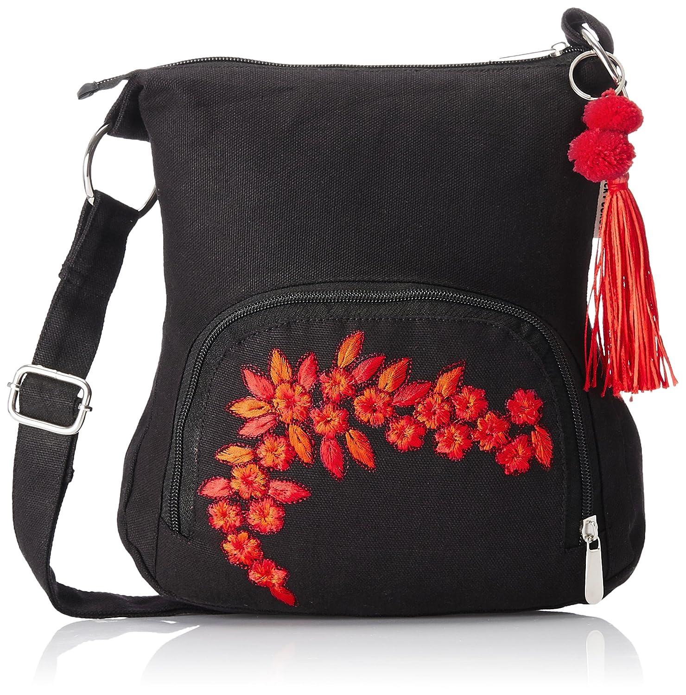 Pick Pocket Women's Sling Bag (Black,Slblkremb24): Amazon.in ...