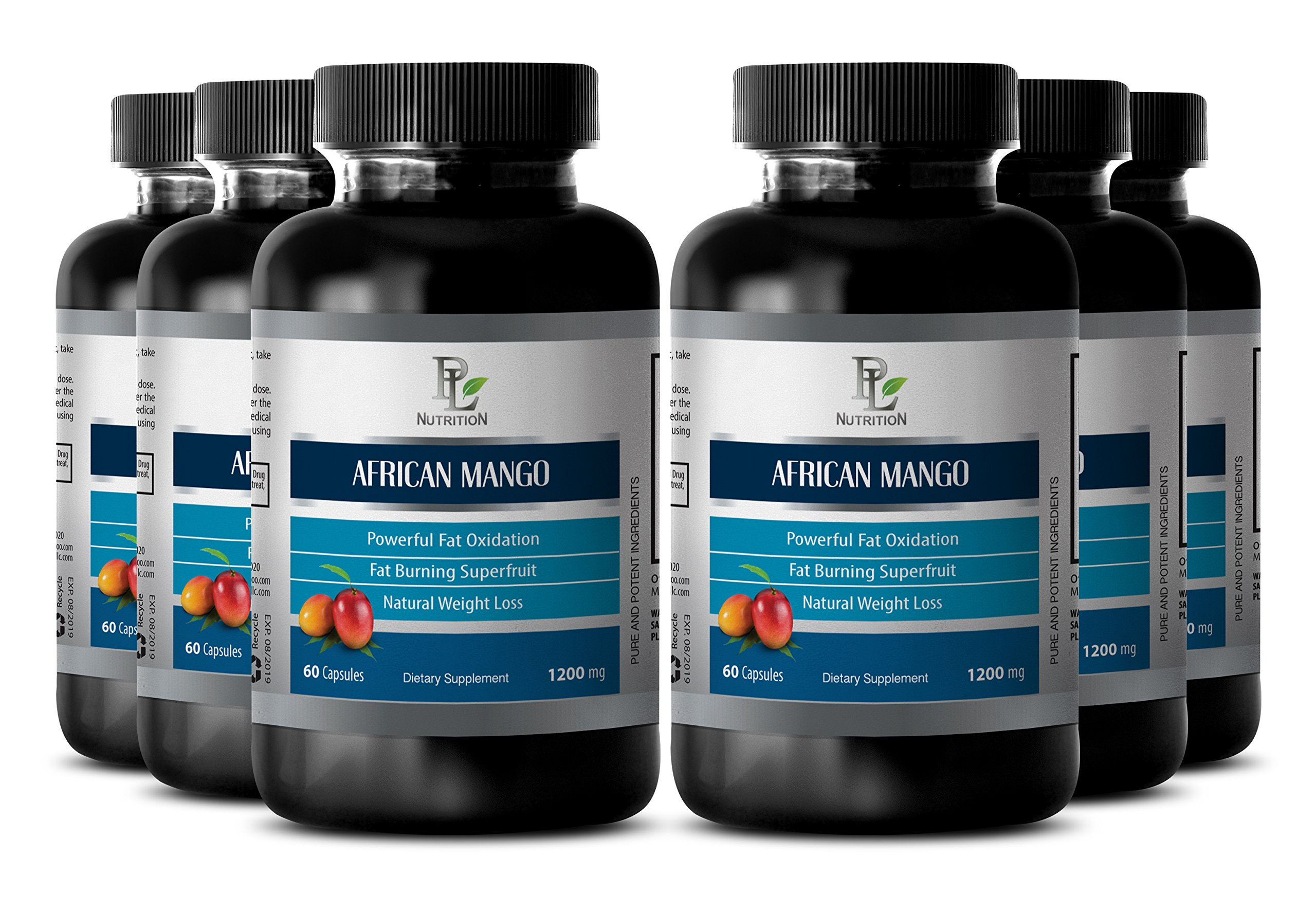 Beta-carotene African Mango supplement - AFRICAN MANGO EXTRACT - Promotes blood circulation - 6 Bottles 360 capsules by PL NUTRITION