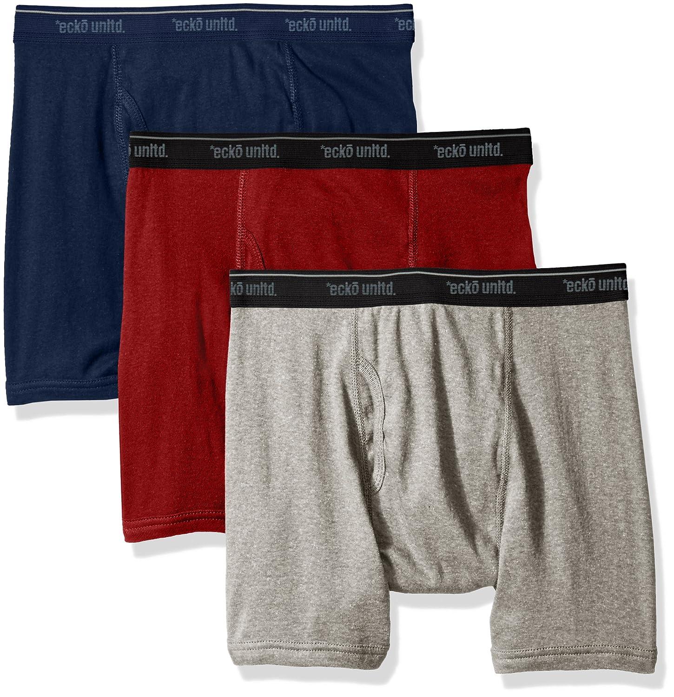 4cdadd26c628 Amazon.com: Ecko Unltd. Men's 3 Pack Underwear Boxer Briefs Cotton  Breathable Comfortable: Clothing