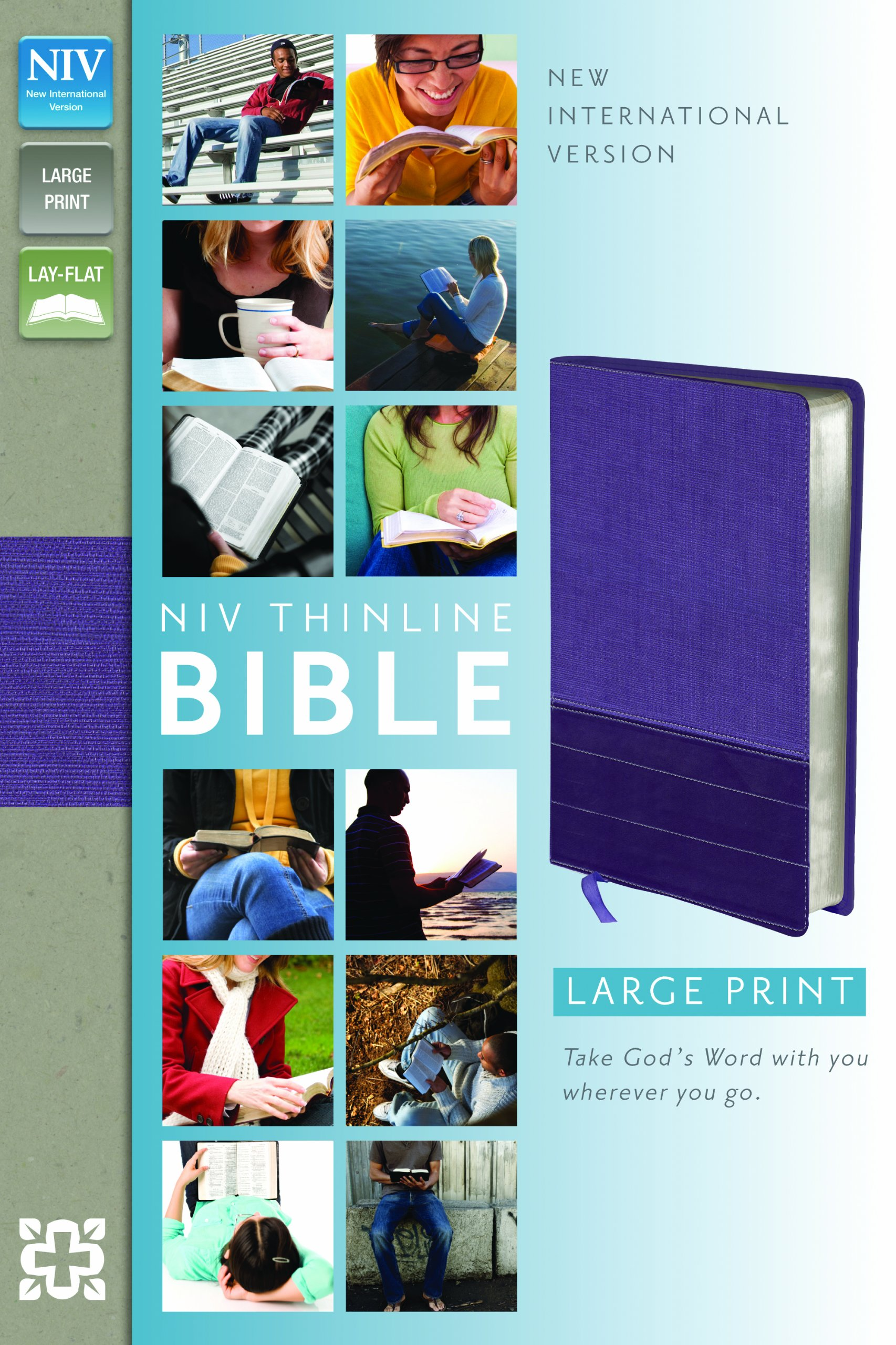 NIV, Thinline Bible, Large Print, Imitation Leather, Purple, Red Letter  Edition: Zondervan: 0025986435998: Amazon.com: Books