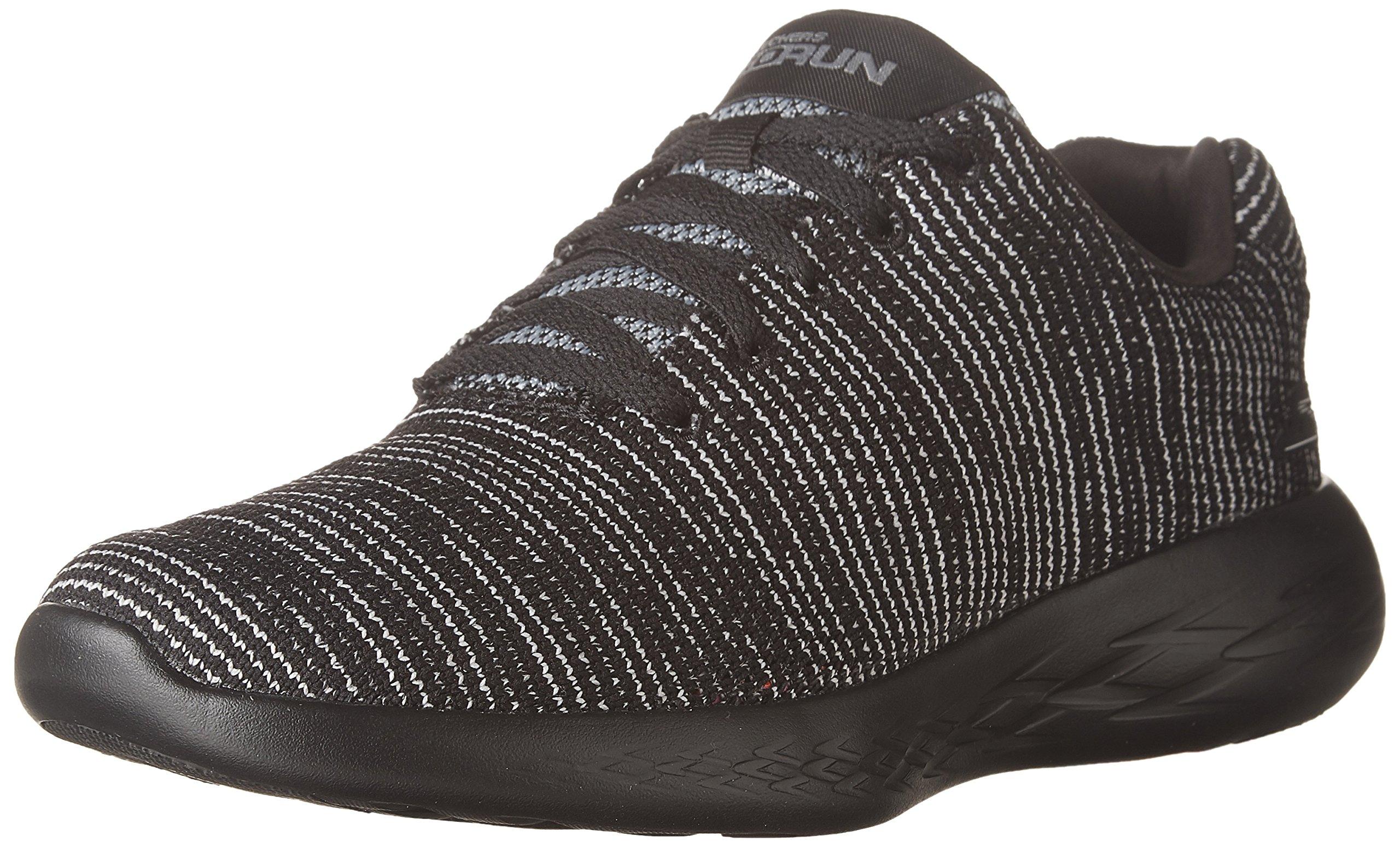 Skechers Performance Women's Go Run 600-Obtain Sneaker,Black/Gray,11 M US