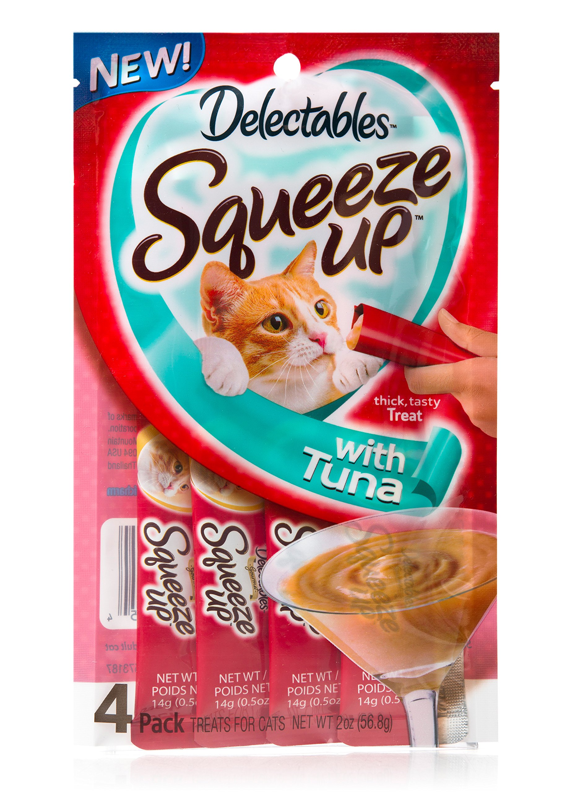 Hartz Delectables Squeeze Up Cat Treat 4Ct (Pack of 8) Tuna