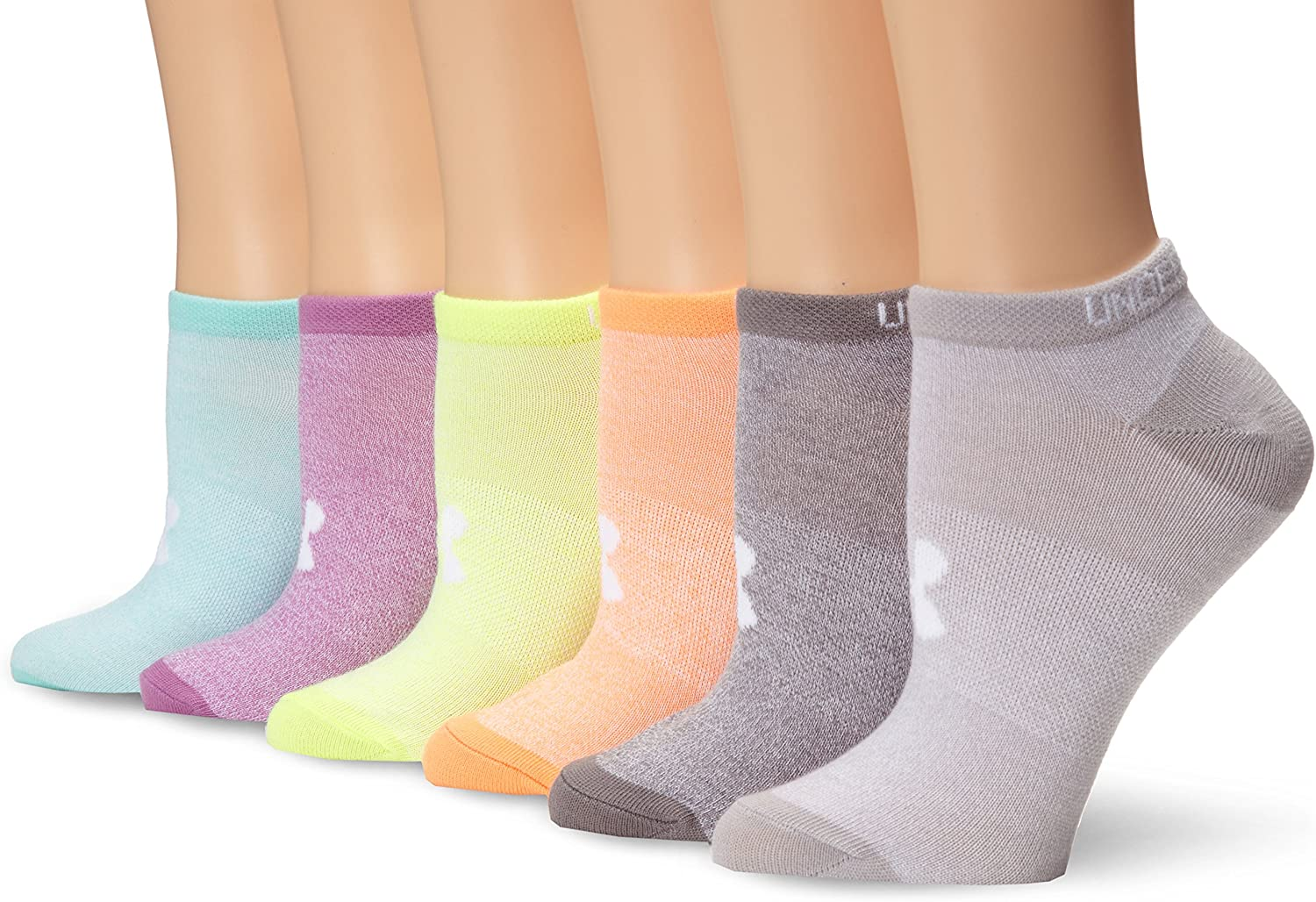 Under Armour Women's Essential No Show Socks, 6-Pairs : Clothing