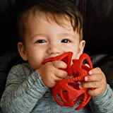 (Multi) - 100% Silicone Tuggy Teether Ball, 3 Months +, Colours May Vary
