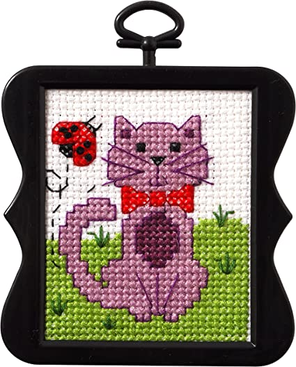 Bucilla 45749 Cross Stitch Stitchery Mini Kit Flower Owl