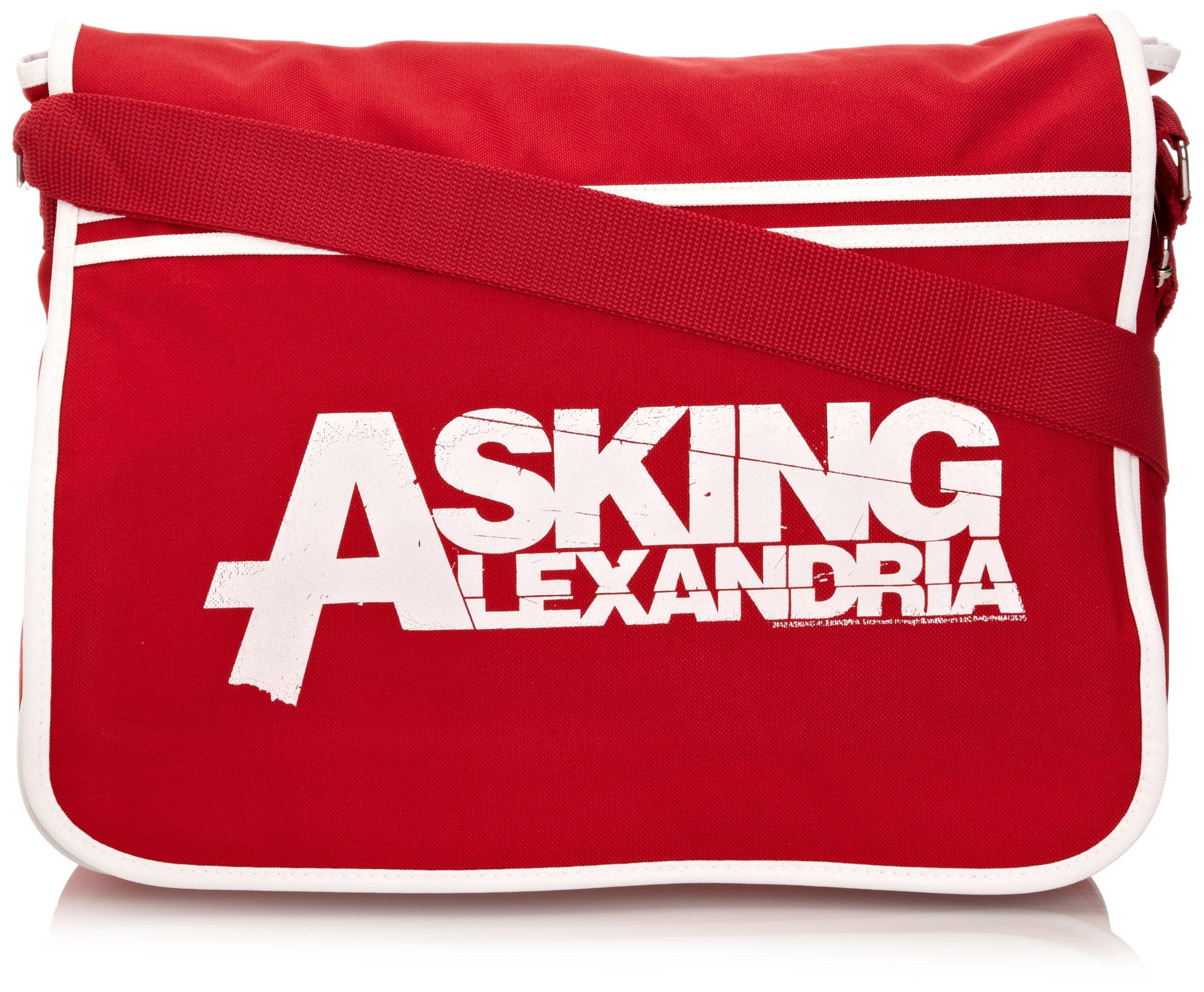 Asking Alexandria Logo Official New Red Retro Messenger Bag