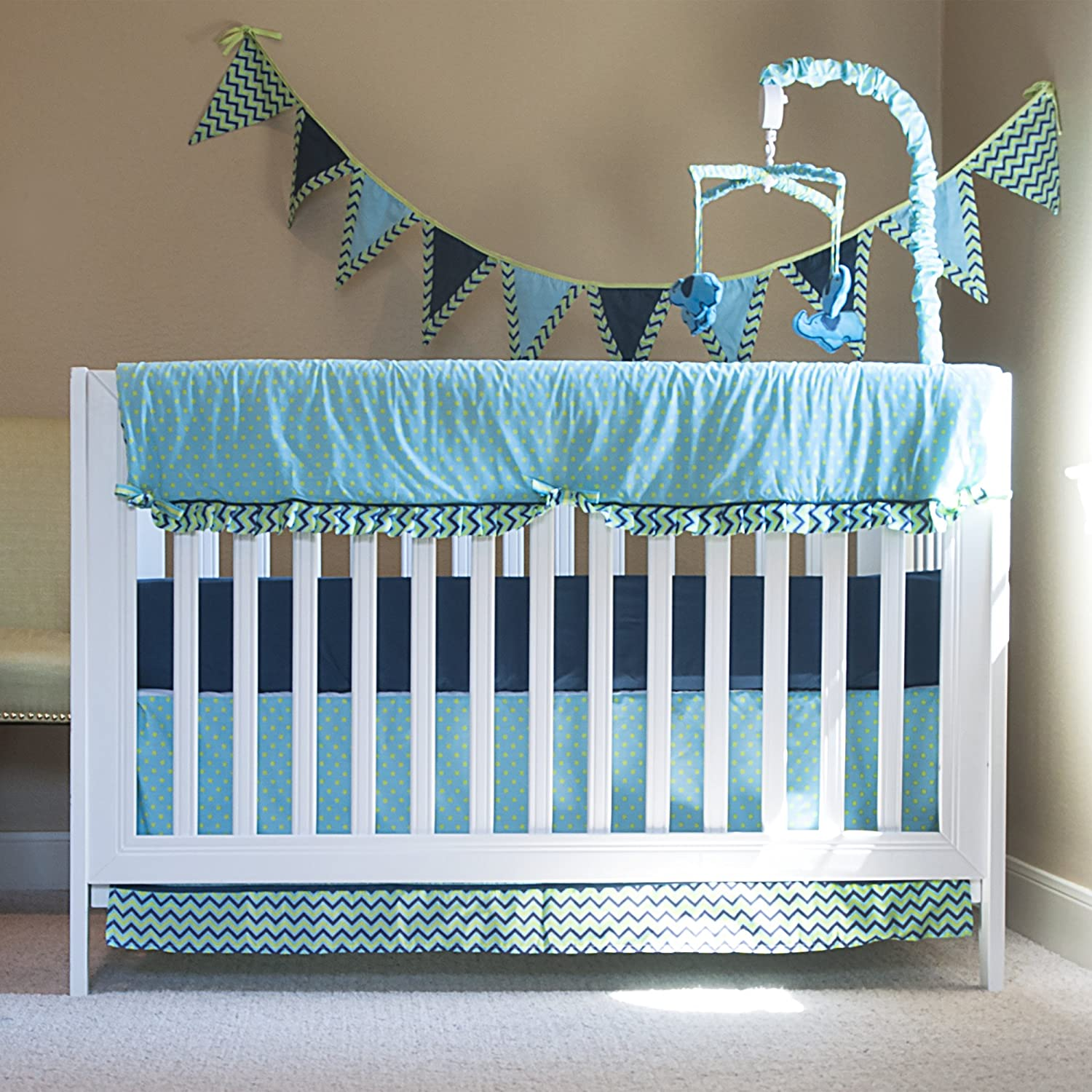 il c teal skirt fullxfull bedding cribs crib boy baby arrows marine