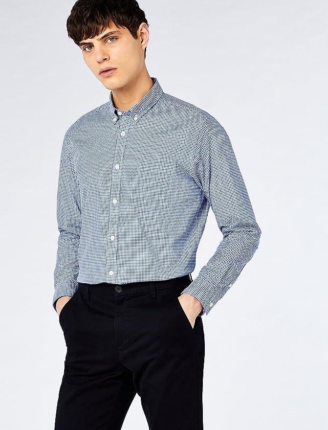 Hem /& Seam Camisa de Cuadros Regular Fit Hombre Pack de 2