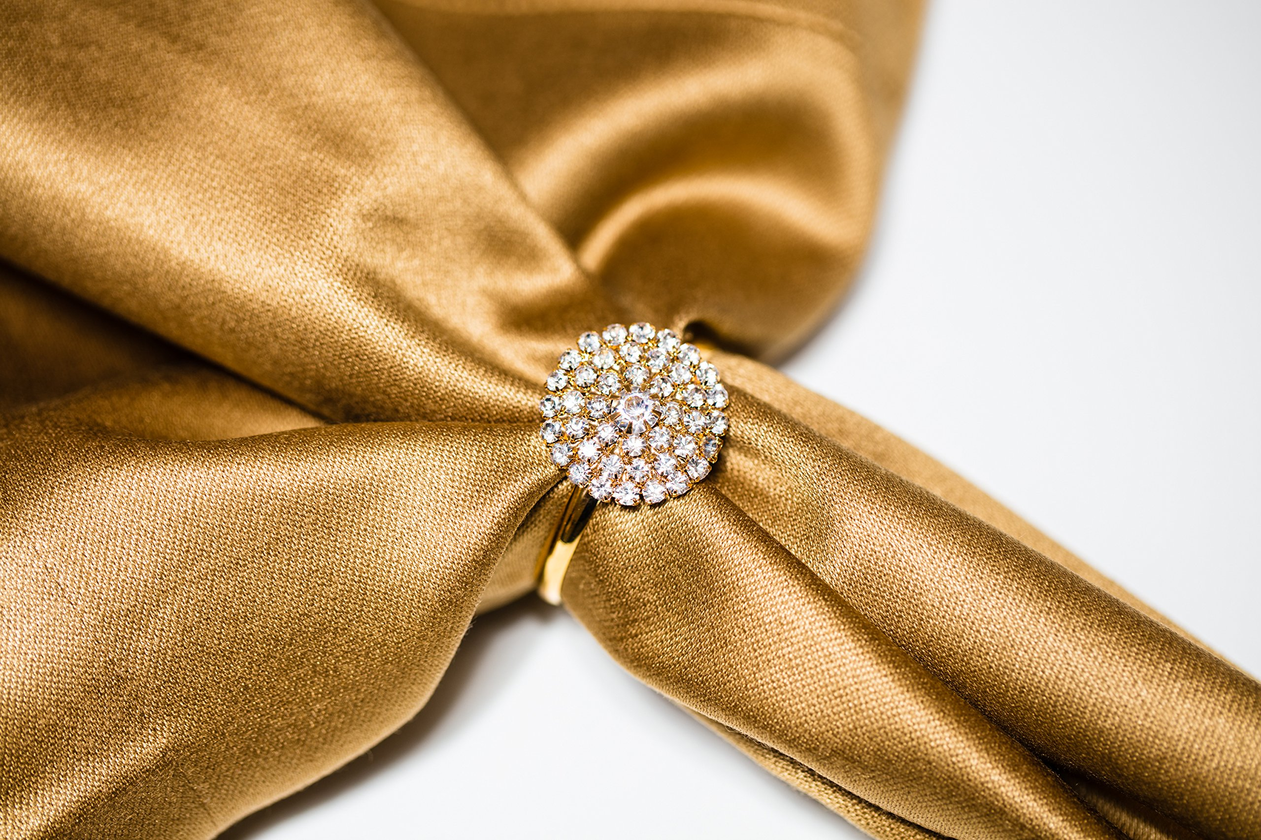 Napkin Rings for Weddings, Parties, and Events 100pc Set Bulk Napkin Rings – Totally Dazzled by Totally Dazzled (Image #5)
