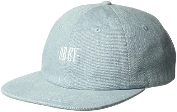 Amazon.com  Obey Men s ROSA 6 Panel Snapback HAT a6f47c83595d