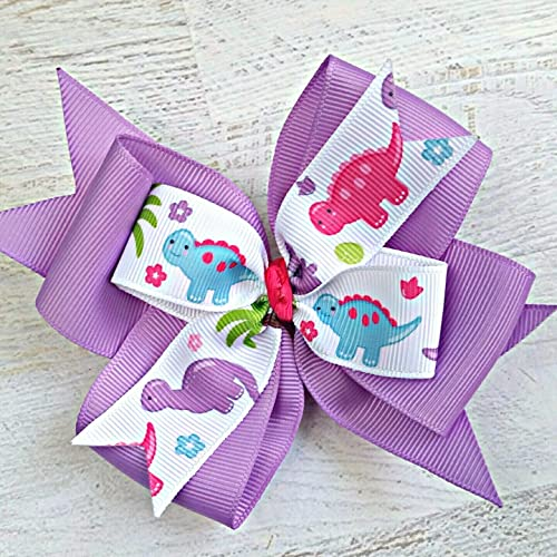 Handmade 4 Inch Hair Clip Bow Lilac Clothes, Shoes & Accessories Kids' Clothes, Shoes & Accs.