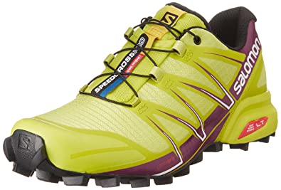 Salomon Damen Speedcross Pro Traillaufschuhe, Mehrfarbig (Gecko Green/Mystic Purple/White), 40 EU