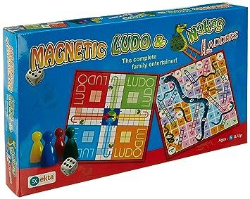 Ekta Magnetic Ludo Snakes N Ladders Board Game