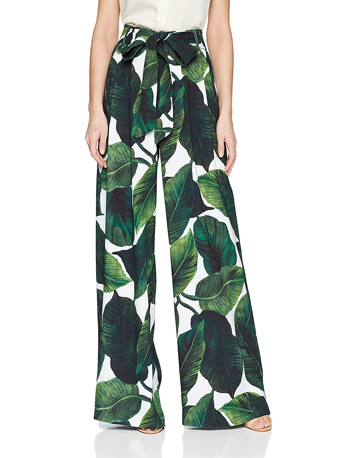 MILLY Womens High Waisted Wide Leg Front Pleated Natalie Pant