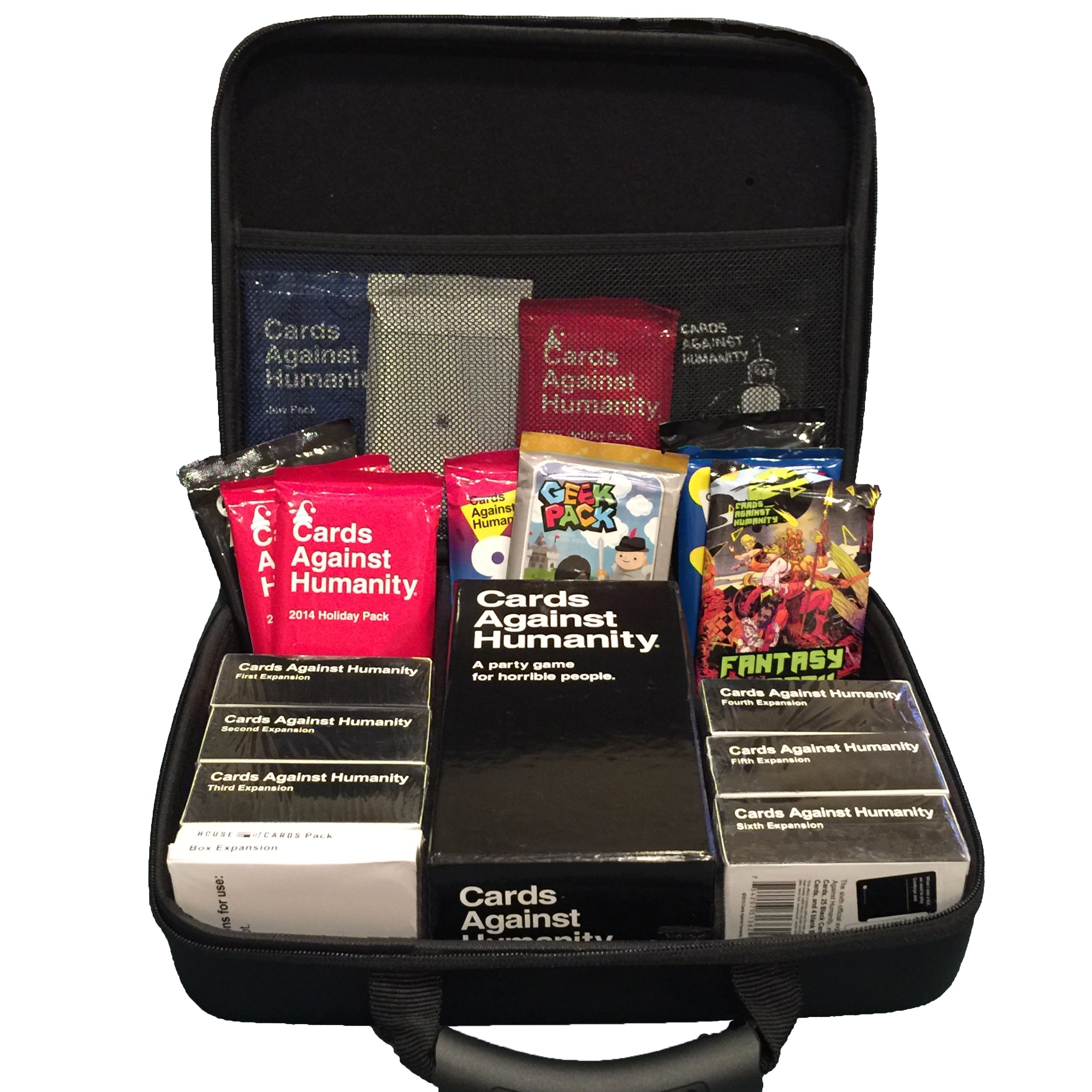 Portable Card Game Case for 2,000+ Cards. Fits Main Game Plus All Expansions (Extra Large).