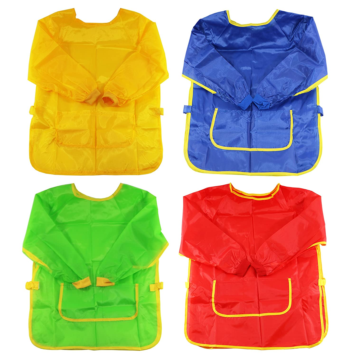 10/20/30 Kids Childrens Protective Painting Wipe Clean Smock Apron (10) Oxford Novelties