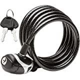 Schwinn SW77861-3 Coil Key Lock, 6-Feet x 8mm
