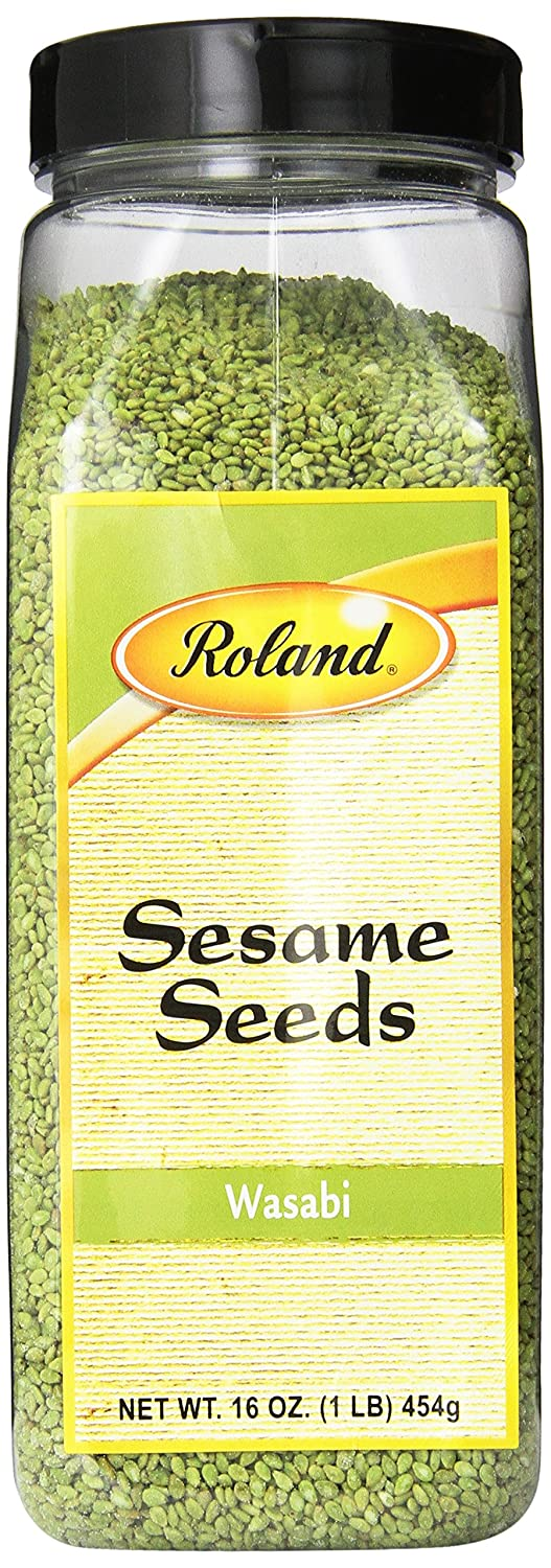 Roland Foods Wasabi Sesame Seeds, Specialty Imported Food, 16-Ounce Bottle