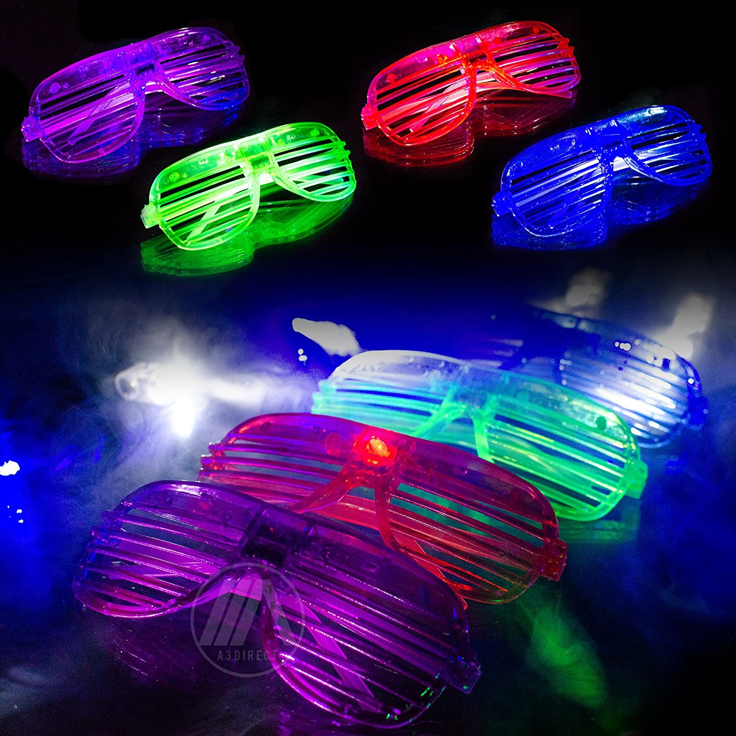 A3 Direct Led Glasses Amp Kids Party Favors 12 Neon Glow