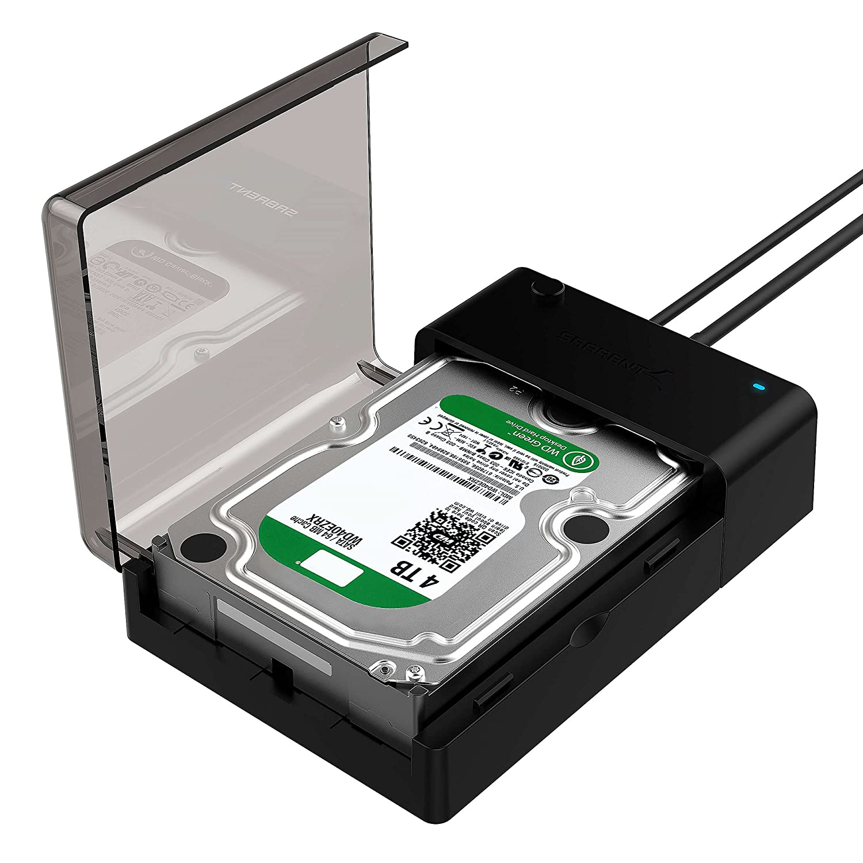 Sabrent USB 3.0 A SATA Disco Duro Externo estació n de Acoplamiento para 2.5 o 3.5 Planos en Apoyo HDD, SSD [UASP y 4 TB] (EC-dflt) SSD [UASP y 4TB] (EC-dflt)