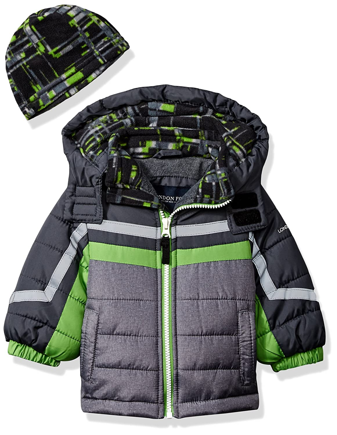 London Fog Baby Boys Active Heavyweight Jacket with Ski Cap