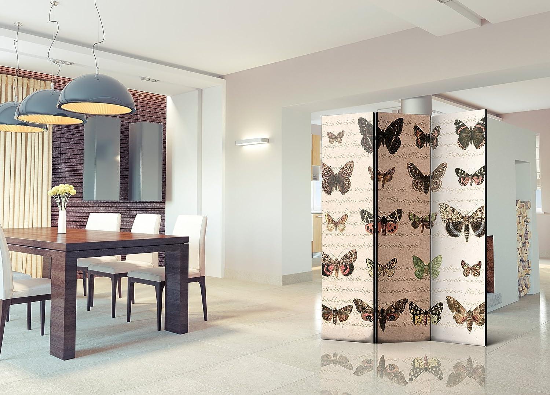 Murando Raumteiler Mandala Ornament 3D Holz Vintage Vintage Vintage Foto Paravent 135x172 cm einseitig auf Vlies-Leinwand Bedruckt Trennwand - Spanische Wand - Sichtschutz - Raumtrenner beige braun f-A-0583-z-b 89f873