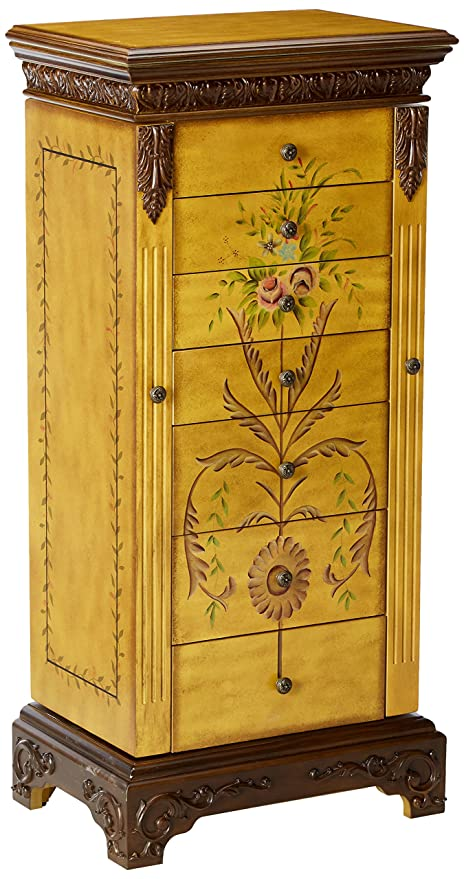 Amazoncom Powell Masterpiece Handpainted Wood Jewelry Armoire