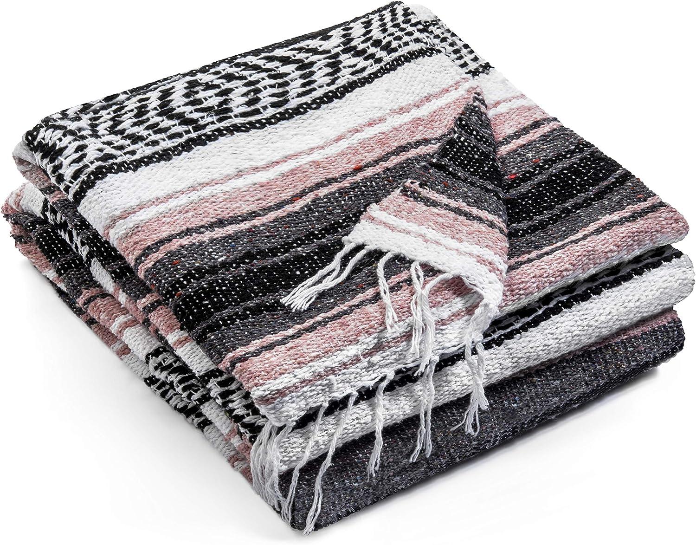 Premium Yoga Blanket Beach Blanket Well Made Picnic Blanket Travel Blanket Outdoor Blanket Topaz Hill Authentic Mexican Blanket Yoga Bolster
