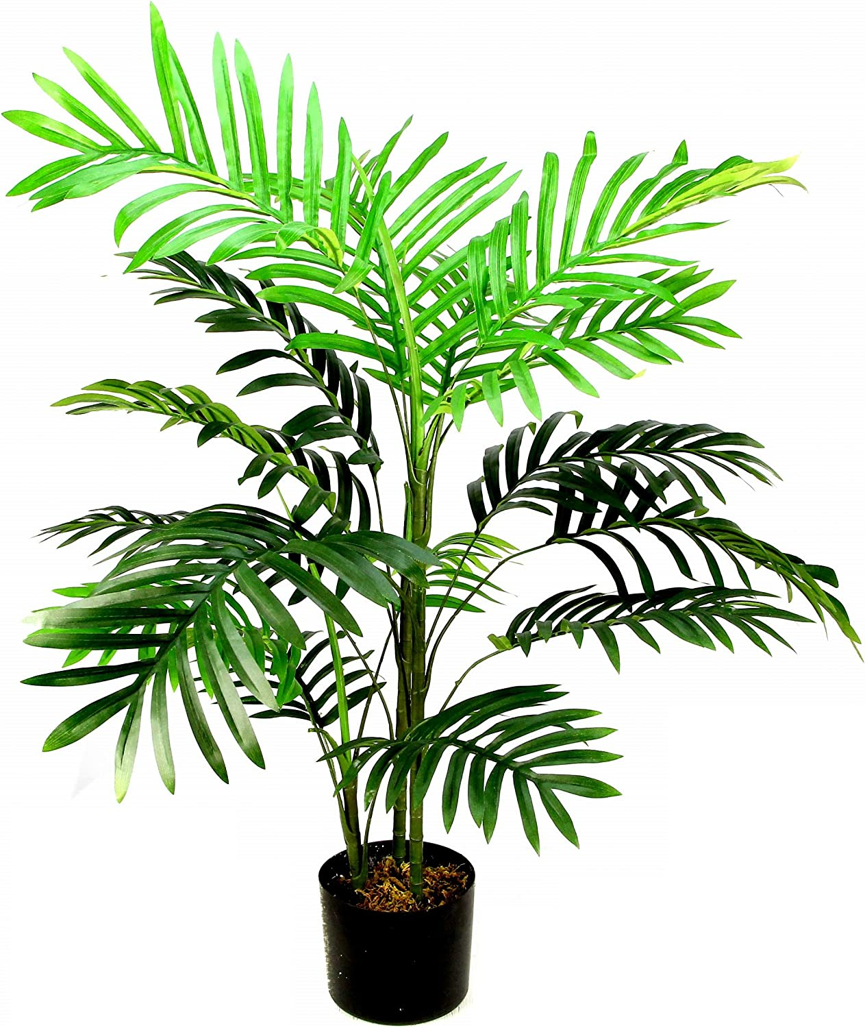 Admired By Nature Artificial Paradise Palm Tree Plant Plastic Pot, 3', Single Pack, 4 Count