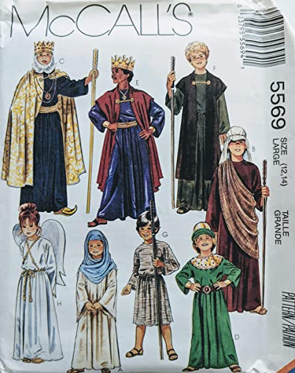 Amazon.com: McCall\'s 5569 Nativity Biblical and Angel Costume Sewing ...
