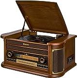 dual nr 50 dab stereo nostalgie komplettanlage mit. Black Bedroom Furniture Sets. Home Design Ideas
