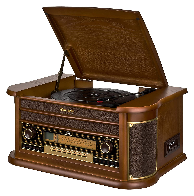 Roadstar HIF-2030 BT - Sistema audio con Bluetooth y función encoding, estilo vintage
