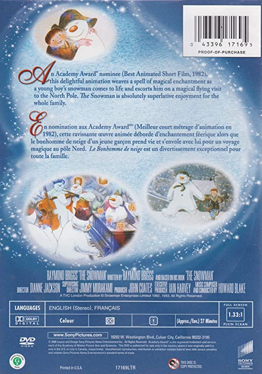 Snowman Fs Amazon Fr Dvd Blu Ray