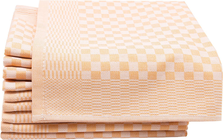 ZOLLNER 10 Trapos de Cocina, algodón, Cuadros Amarillos, 46x70 cm ...