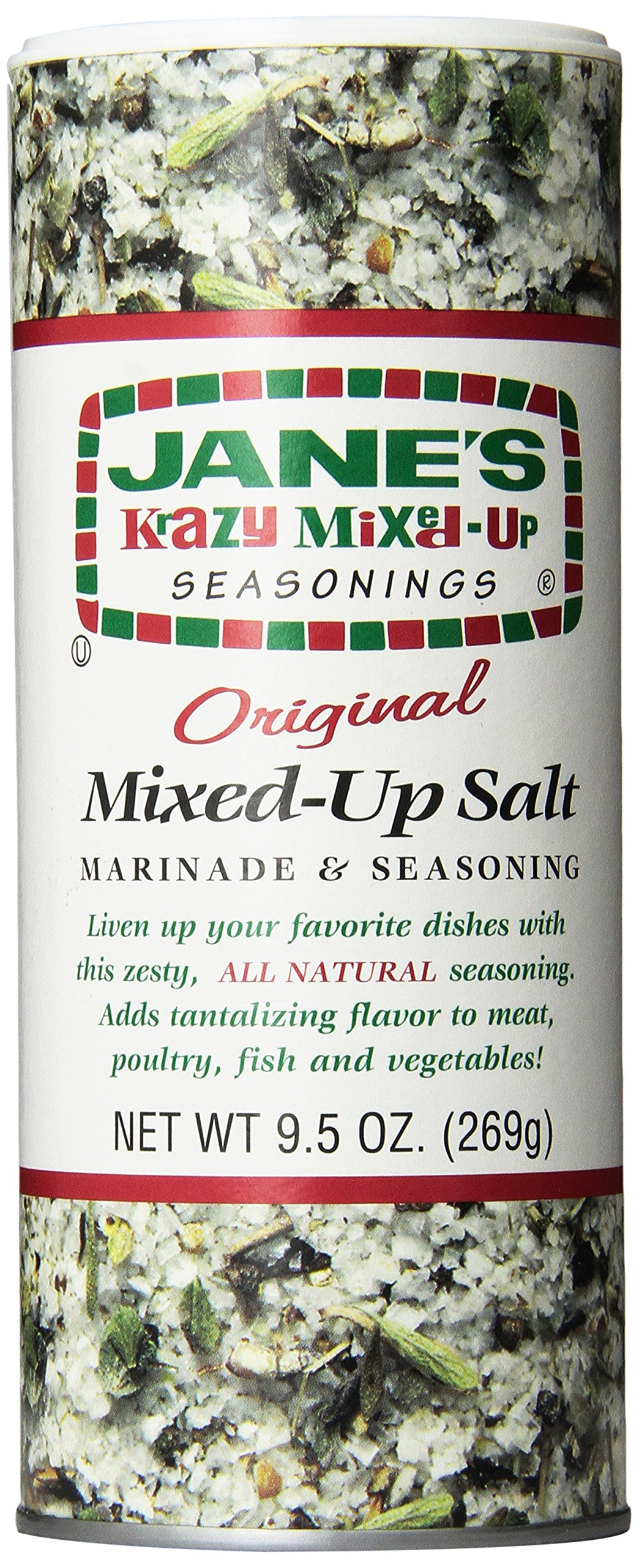 Jane's Krazy Seasonings Mixed Up Salt, 9.5 Ounce (Pack of 12) by Jane's Krazy Seasonings (Image #1)