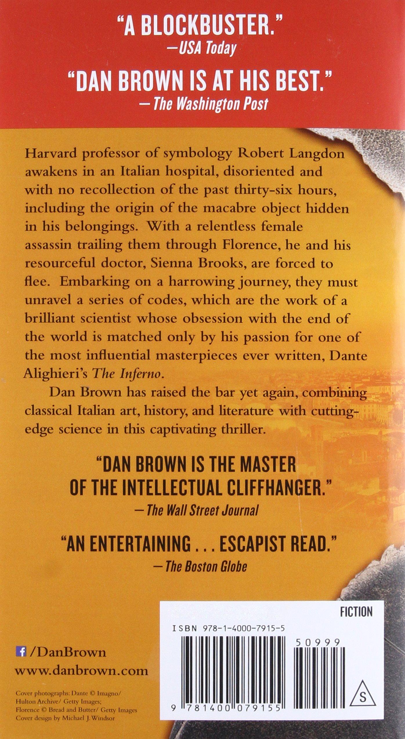 Amazon inferno robert langdon 9781400079155 dan brown books biocorpaavc Choice Image