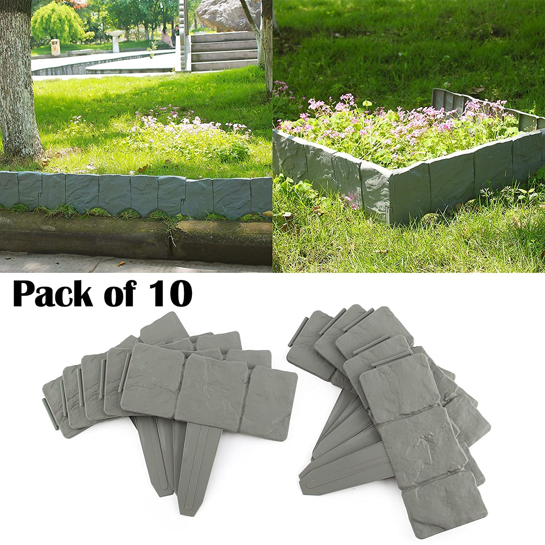 AllRight 10 Pack Cobbled Stone Edging Garden Edging Border OEM