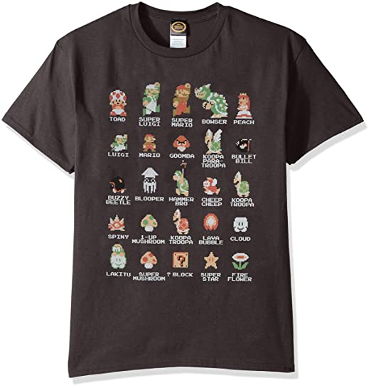 4ccc4838cb9 Amazon.com  Nintendo Men s Pixel Cast T-Shirt  Clothing
