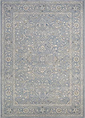 Couristan Sultan Treasures Floral Yazd Slate Blue Area Rug, 5 3 x 7 6