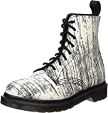 Dr. Martens Damen Pascal Painter White/Black Kurzschaft Stiefel