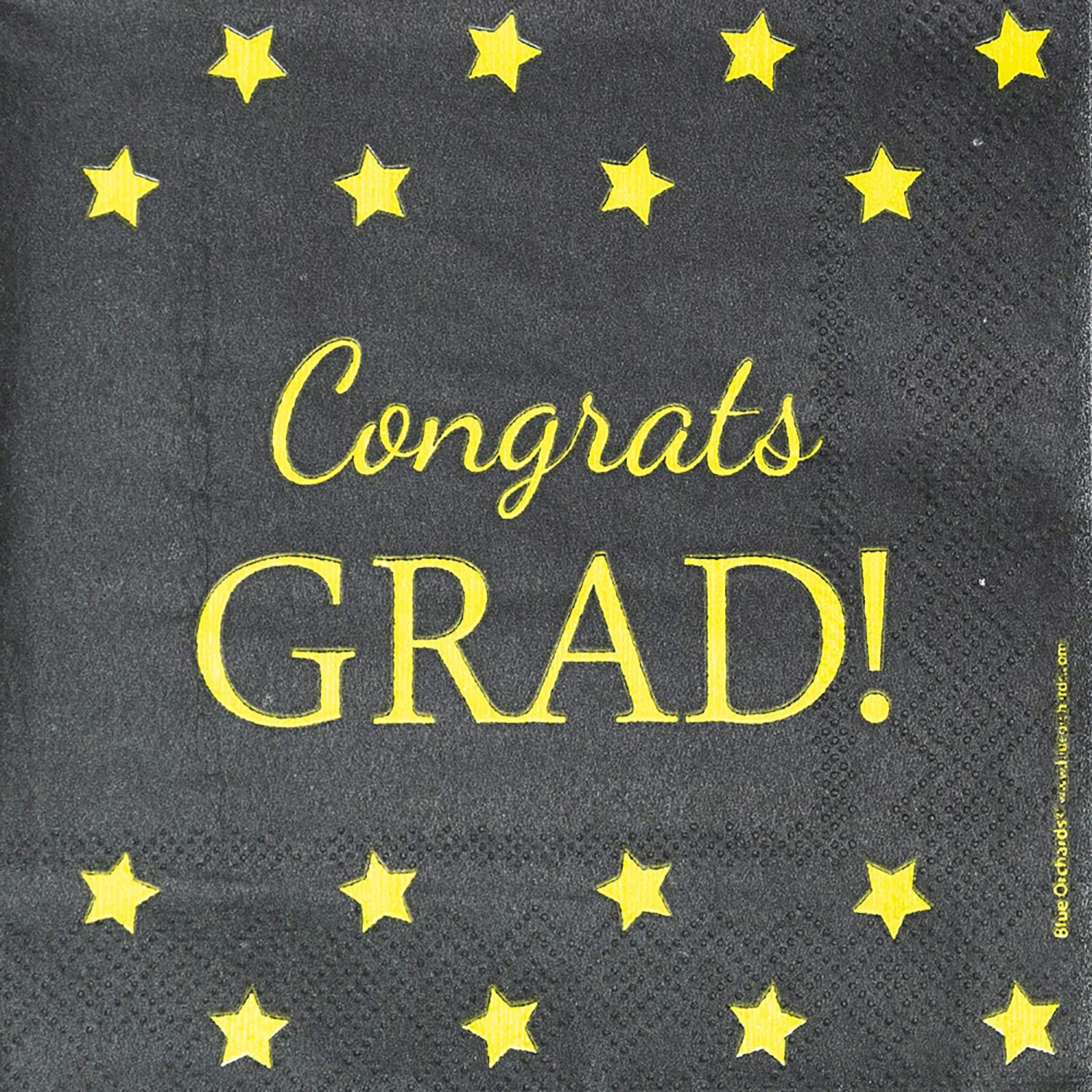 Graduation Napkins, Congrats Grad Party Supplies, Cocktail and Beverage Napkins, 100-Pack, 5 x 5 Inches Folded