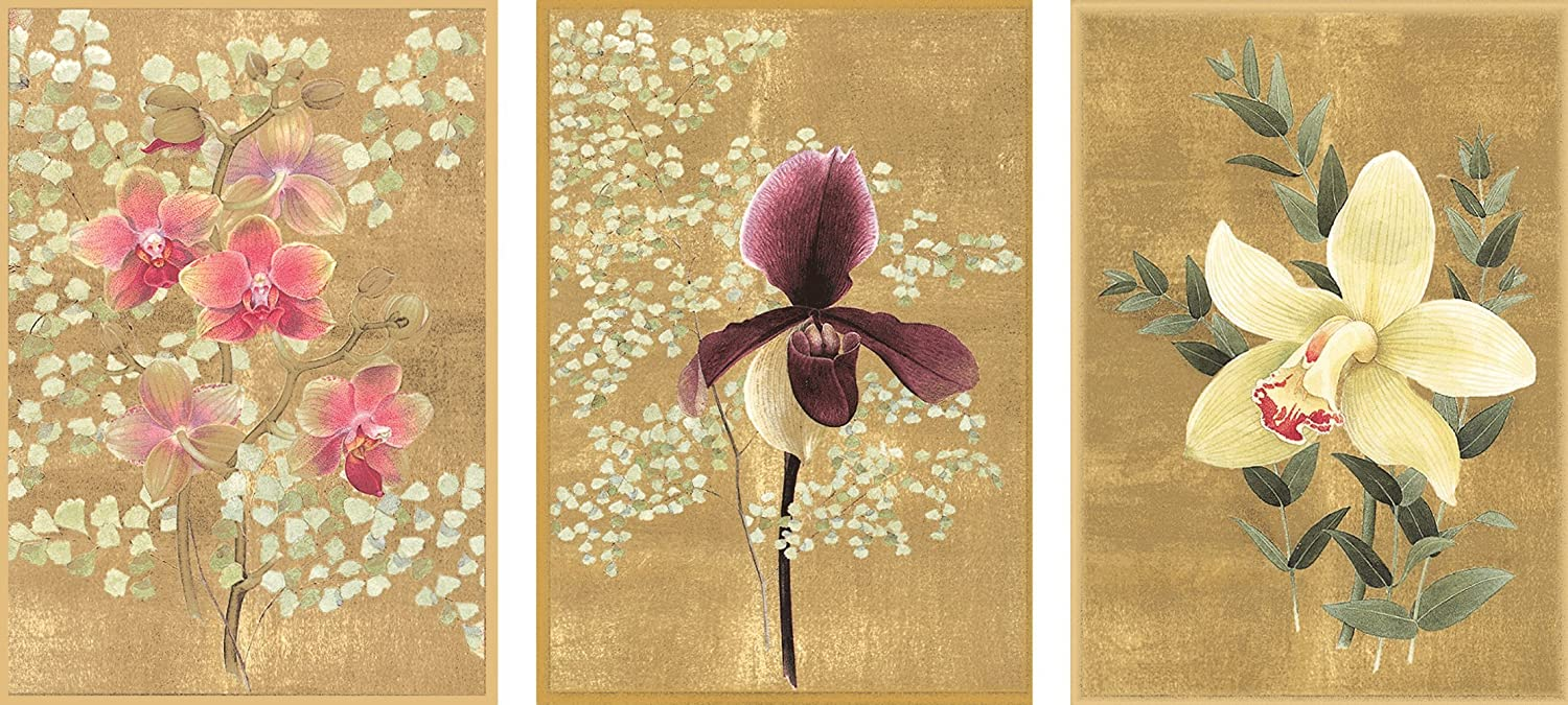 Caspari Entertaining with Orchids Blank Notecards, Set of 8 70615.46