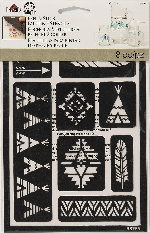 FolkArt 13222 Wanderlust Peel /& Stick Stencil