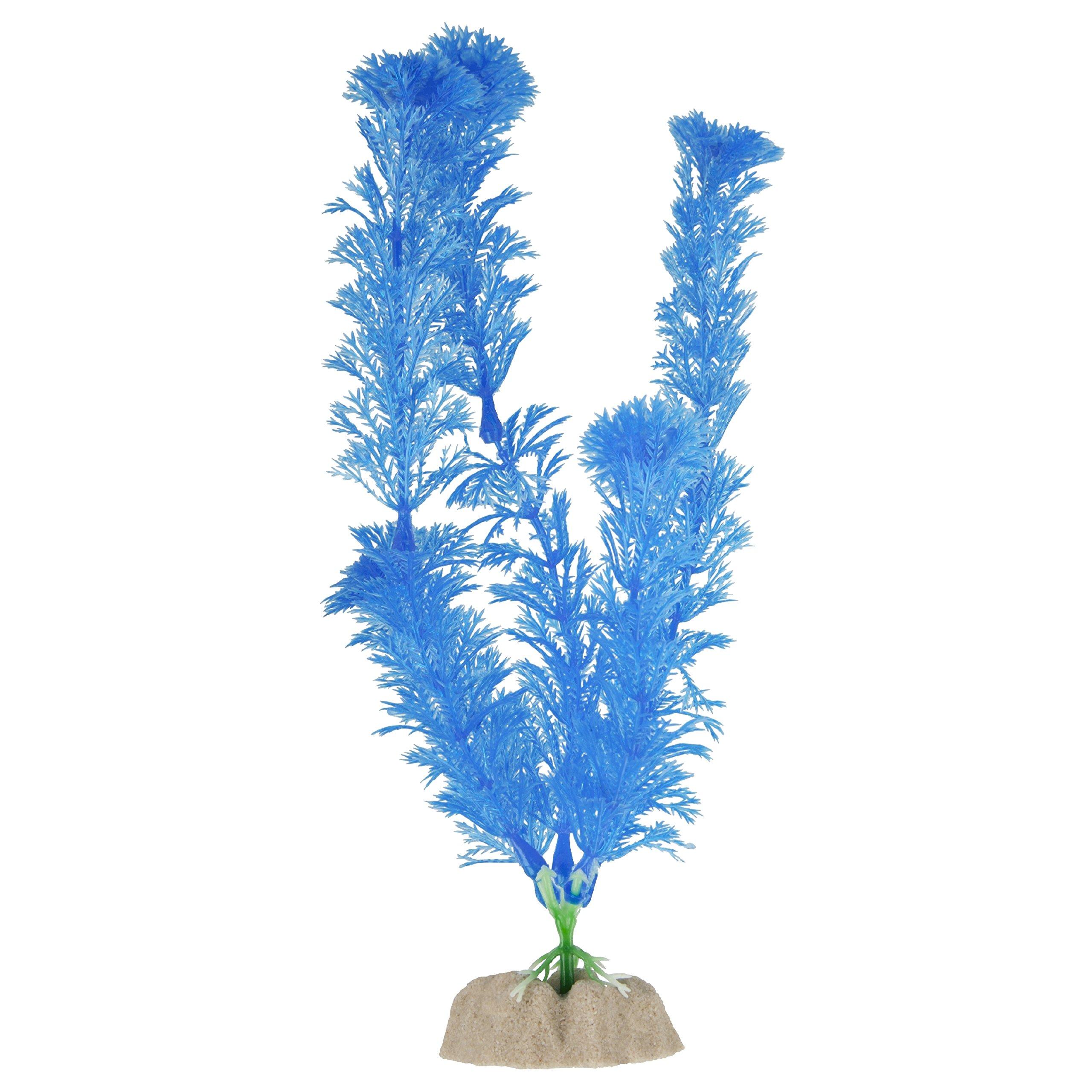 GloFish Large Fluorescent Plant for Aquarium Decoration, Blue