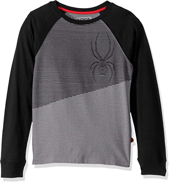 Spyder Youth Boys 8-20 Athletic Long Sleeve Graphic Cotton Tee