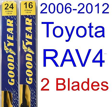 2006 – 2012 Toyota RAV4 hoja de limpiaparabrisas de repuesto Set/Kit (Goodyear limpiaparabrisas