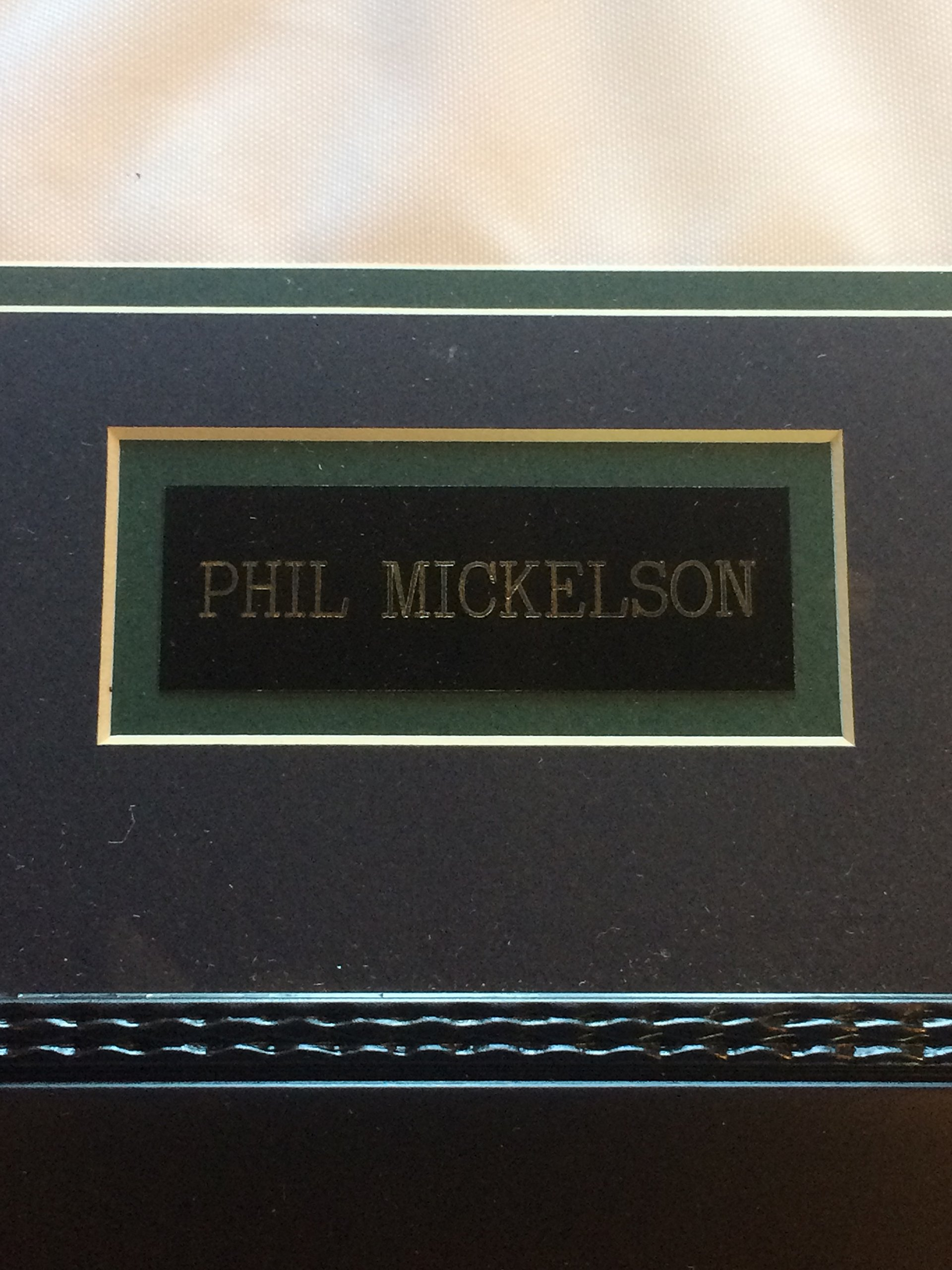 Phil Mickelson signed World Golf Hall of Fame flag framed auto PSA LOA 25x20